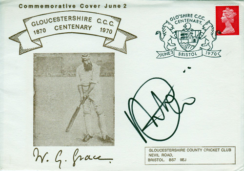 Gloucestershire CCC captain ALEX GIDMAN signed WG Grace FDC.