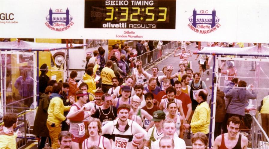 Colin Jarman 1983 London Marathon