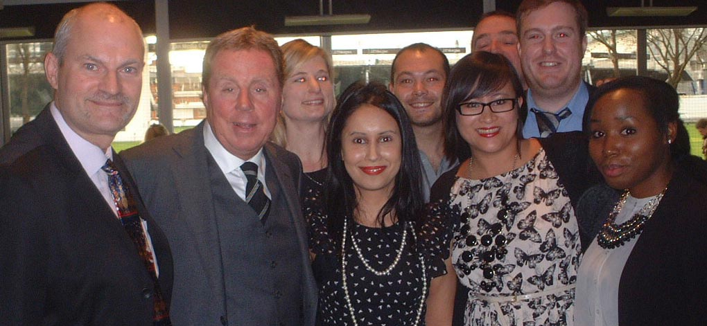 Colin Jarman and Harry redknapp at The Wooden Spoon Awrds at Lord's with ESPN Staff