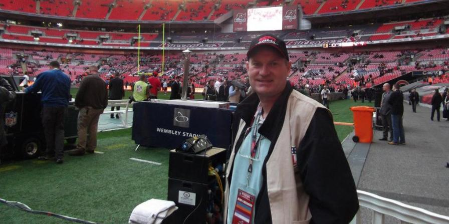 Colin Jarman at Wembley Stadium for Bears and 49ers