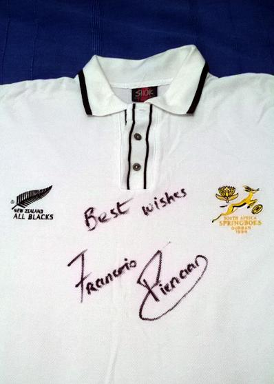 South Africa's World Cup winning captain FRANCOIS PIENAAR signed shirt