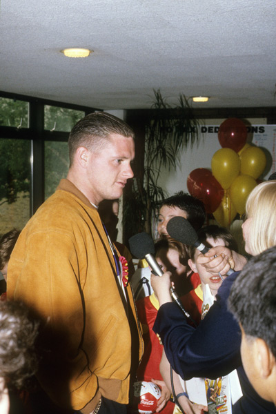 Gazza at the Roy of the Rovers launch party White Hart Lane