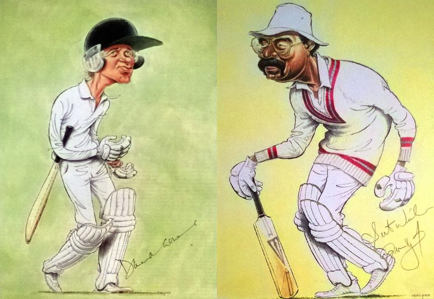 Signed John Ireland cricket prints. 1. DAVID GOWER (England)             2. CLIVE LLOYD (West Indies)