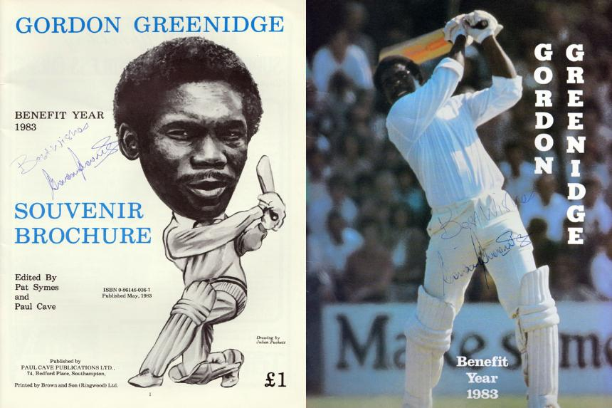 GORDON GREENIDGE (West Indies, Barbados & Hampshire) 1983 Benefit Year brochure (signed inside and on cover).