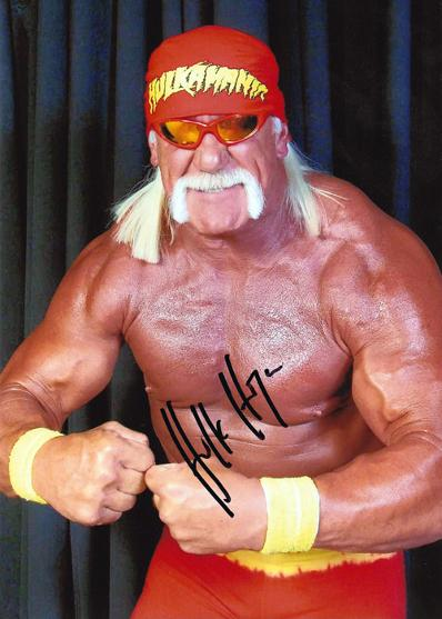 WWF champion HULK HOGAN signed photo.