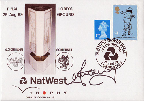 IAN HARVEY signed 1999 Nat West Final FDC.