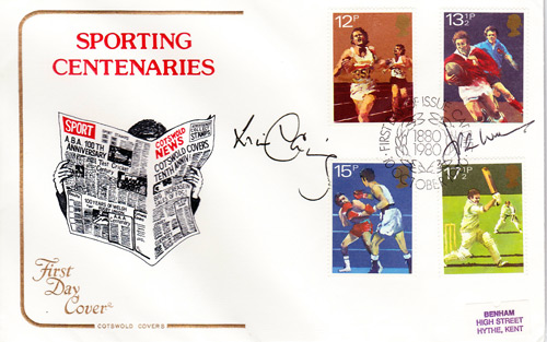 Sports Rugby FDC signed by JPR Williams & Will Carling.