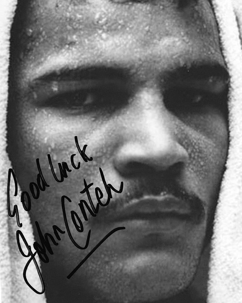 JOHN CONTEH (World Light-Heavyweight champion) signed photo