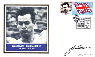 LYNN DAVIES (1964 Olympic Long jump champion) signed First Day Cover.