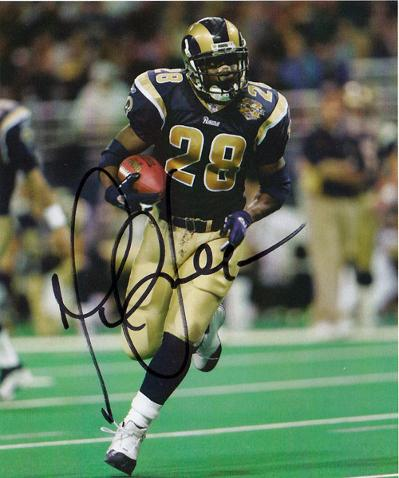 Rams' Hall of Fame running back MARSHALL FAULK signed photo.