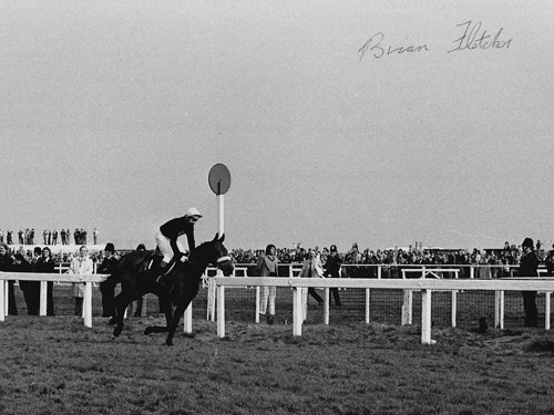 Red Rum winning the 1973 Grand National signed by jockey Brian Fletcher.