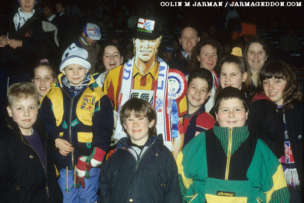 Roy Race with young England fans at Wembley - Roy of the Rovers