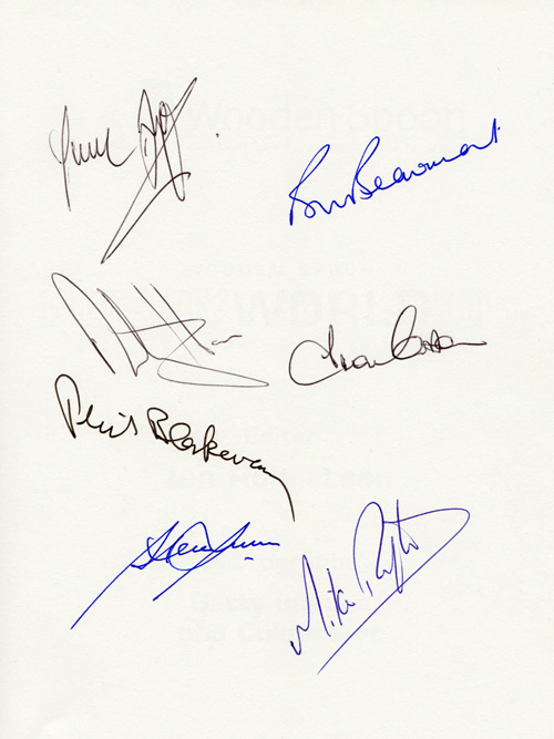 Rugby World book signed by England's 1980 Grand Slam winning players:  Bill Beaumont, Dusty Hare, Fran Cotton, Mike Rafter, Phil Blakeway & Paul Dodge.