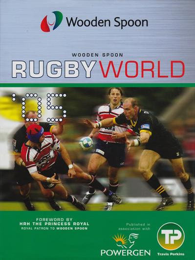 Wooden Spoon 2005 Rugby World book signed by England players